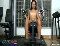 Cassie Cruz at the gym
